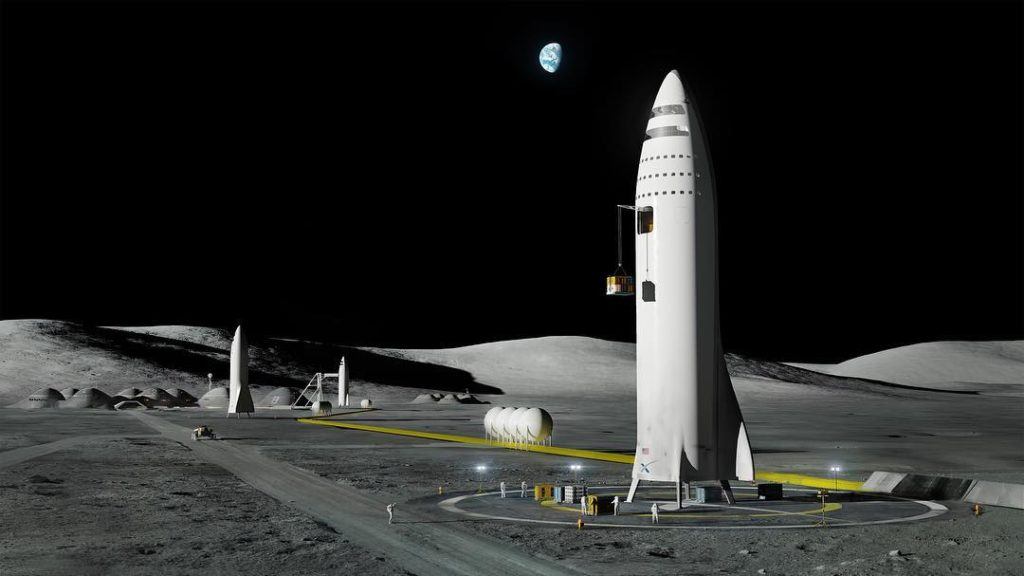 Elon Musk Shows SpaceX Moon Base and Martian City Projects ...