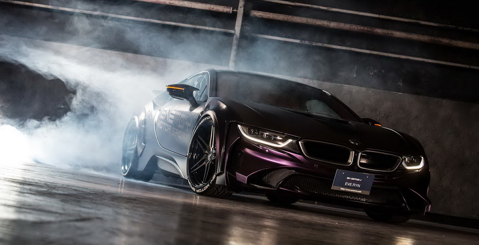 Eve Ryn Bmw I8 Dark Knight Spotted In Japan Has Crazy Red