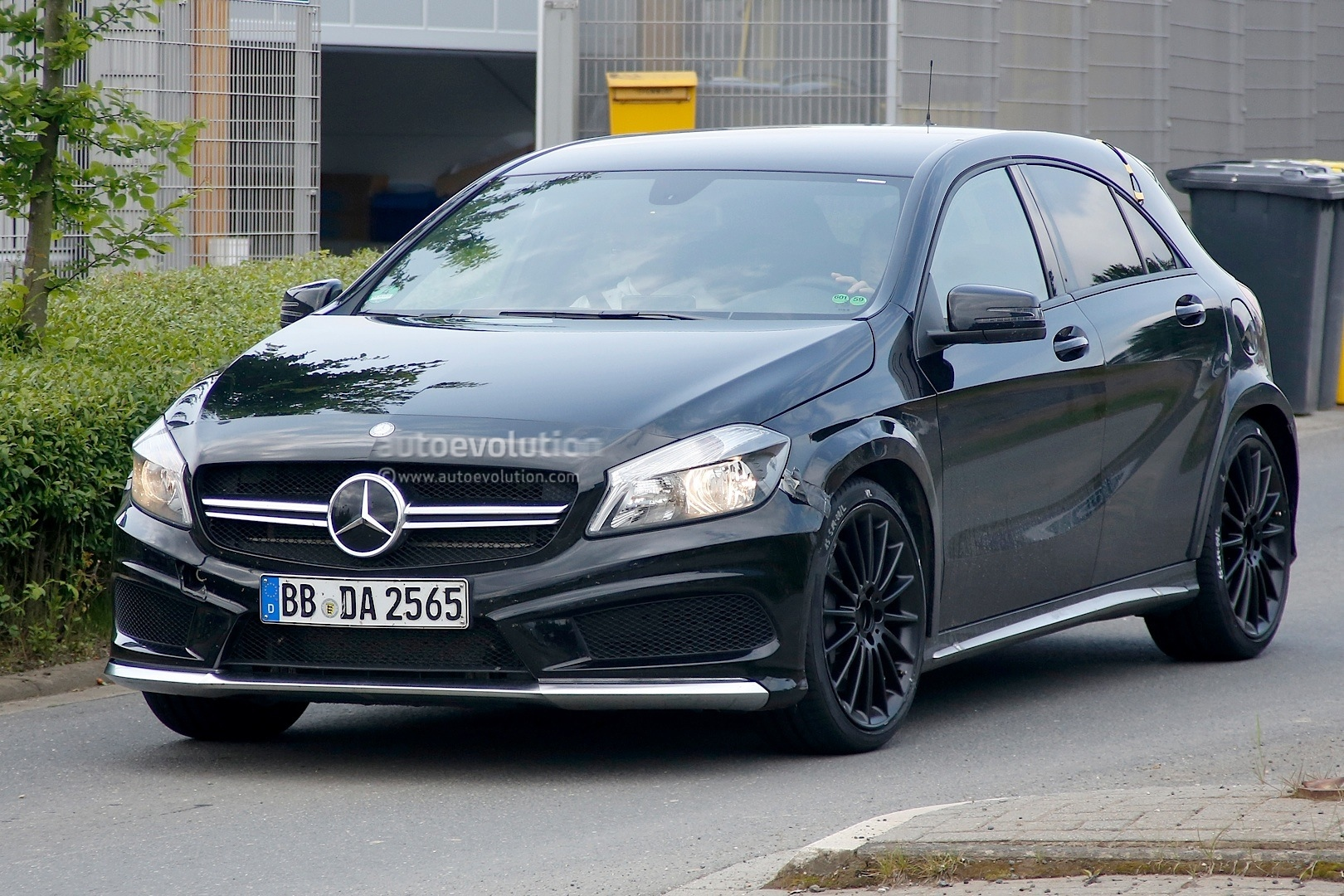 exclusive a45 amg black series spotted testing autoevolution. Black Bedroom Furniture Sets. Home Design Ideas