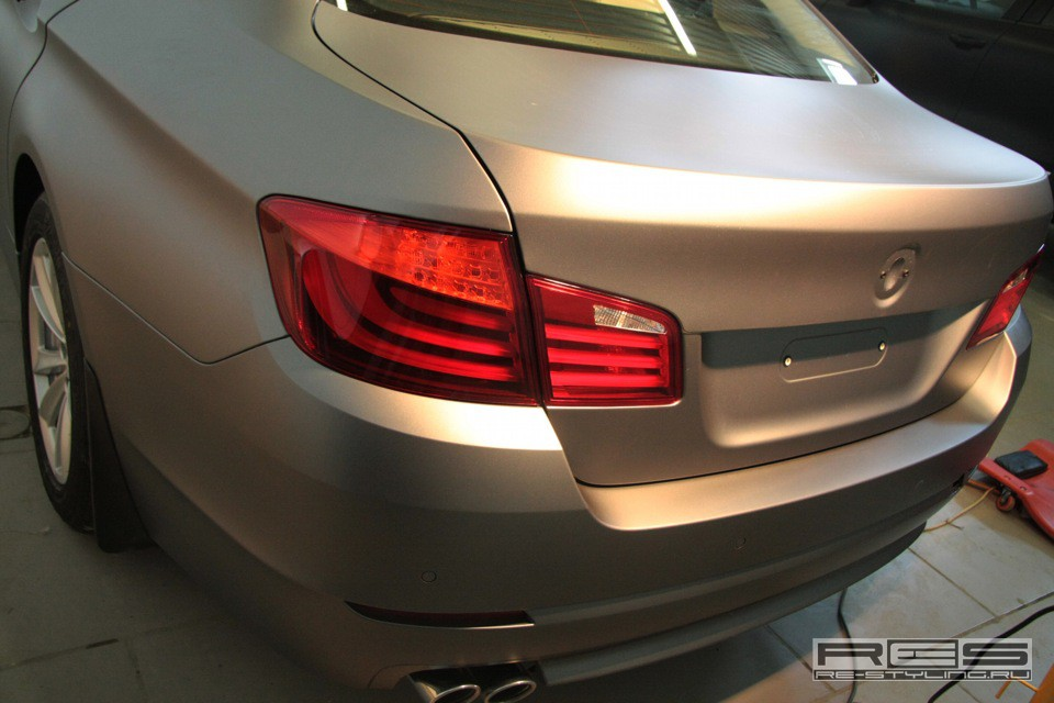 F10 Bmw 5 Series Gets Frozen Transparent Wrap For