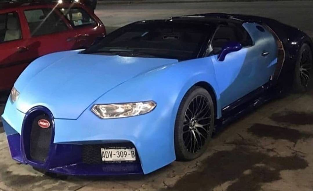 Fake Bugatti Chiron Actually Looks Like a Veyron, Based on a Corvette - autoevolution