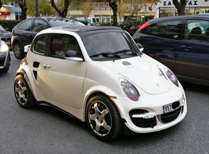 Fake Porsche 911 Turbo Based on Old Fiat 500 Is Almost Cute ...