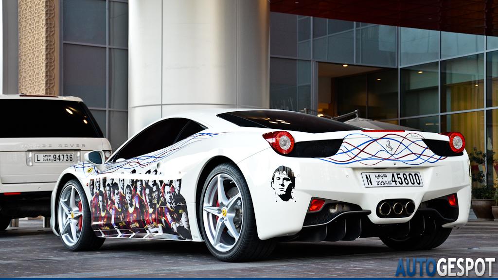 Mercedes Benz Logo >> FC Barcelona Ferrari 458 Italia in Dubai - autoevolution