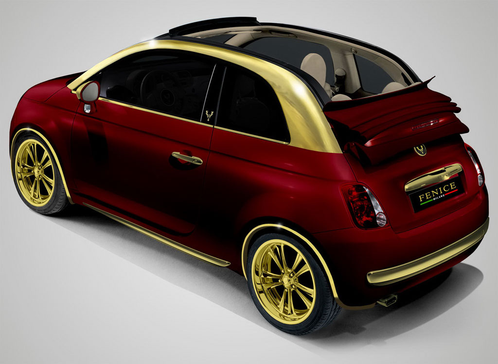 fenice gold fiat 500c presented autoevolution. Black Bedroom Furniture Sets. Home Design Ideas