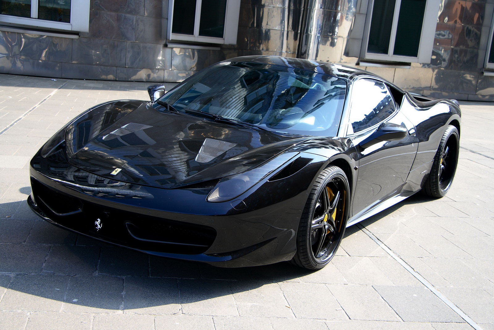 ferrari 458 black carbon edition is darth vaders supercar of choice autoevolution - Black Ferrari 458 Italia