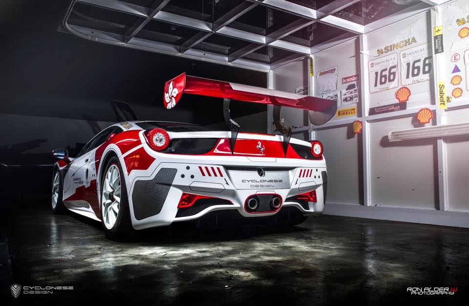 Ferrari 458 Challenge Race Car By Impressive Wrap Hong