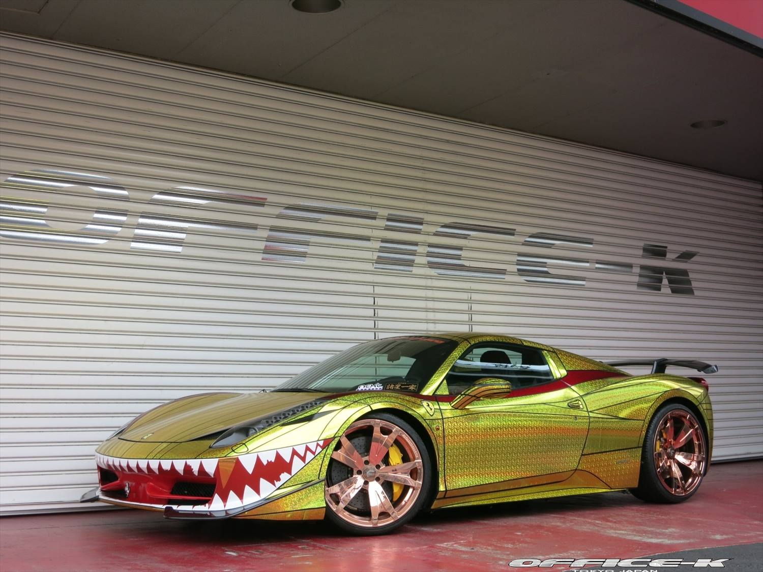 Ferrari 458 Golden Shark By Office K Is Tokyo S Most Awesome Car Autoevolution