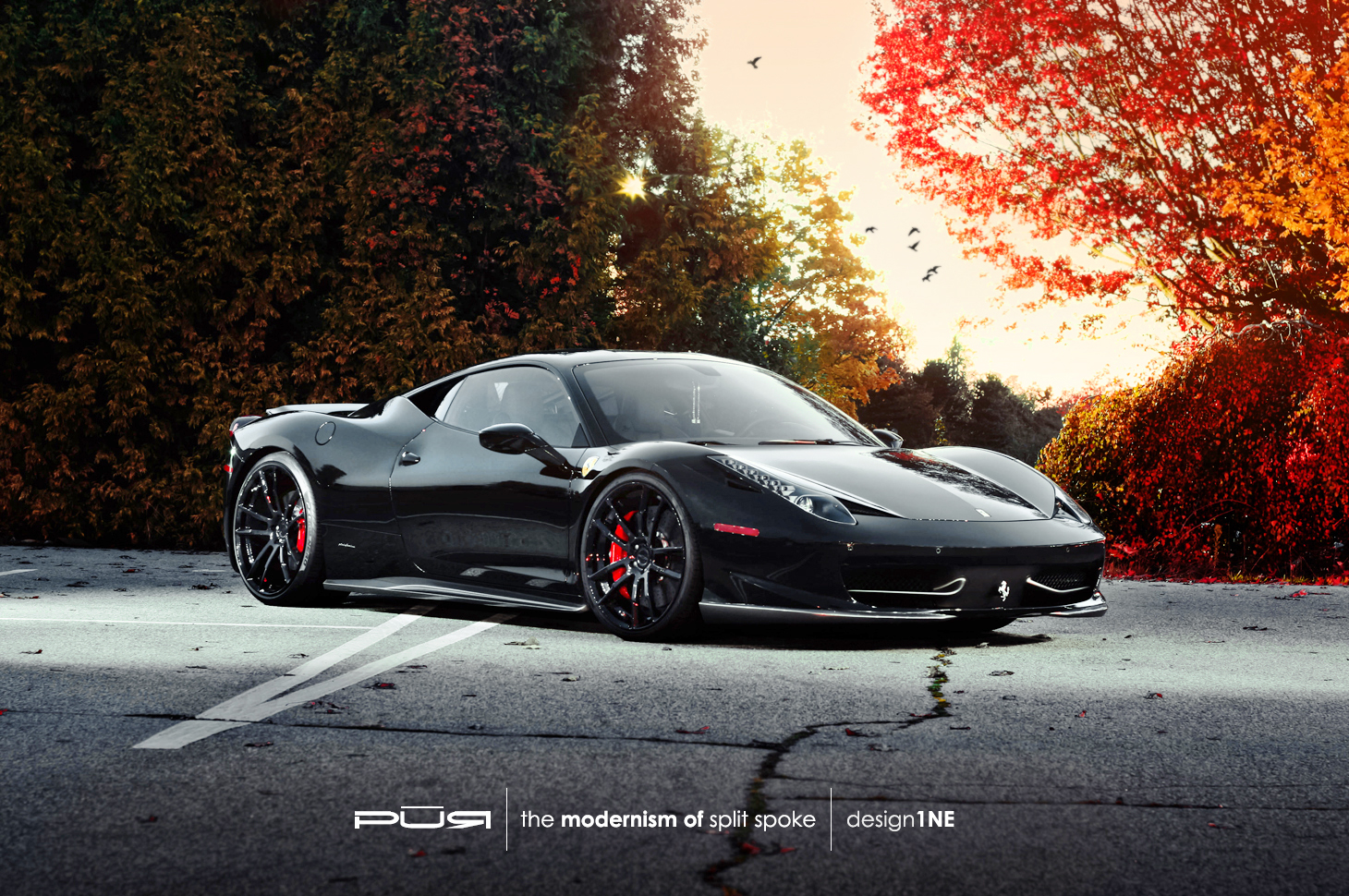 Ferrari 458 italia rides on pur wheels autoevolution for Be italia