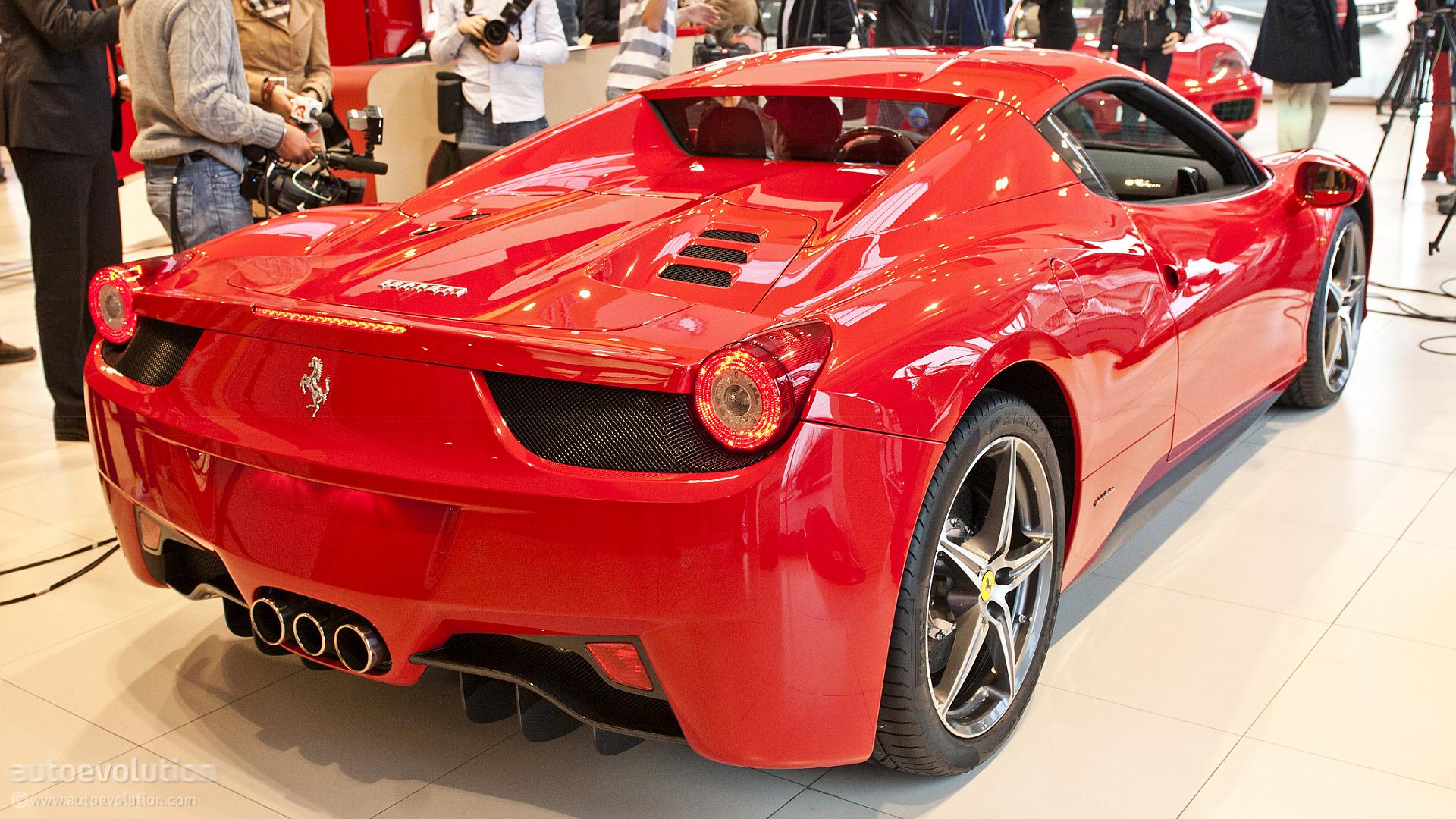 ferrari 458 spider strips for romania autoevolution
