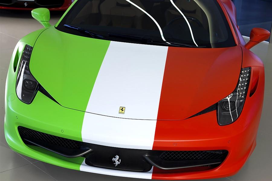 Ferrari 458 Wrapped In Italian Flag For Sale Autoevolution