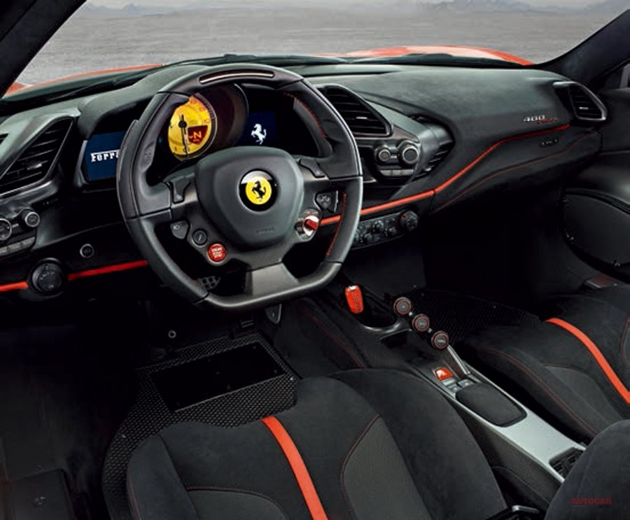 Ferrari 488 Pista photos leaked: feisty looks announce matching performance