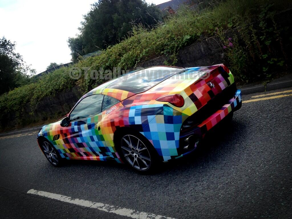 Ferrari California Gets Rainbow Checkered Wrap Autoevolution