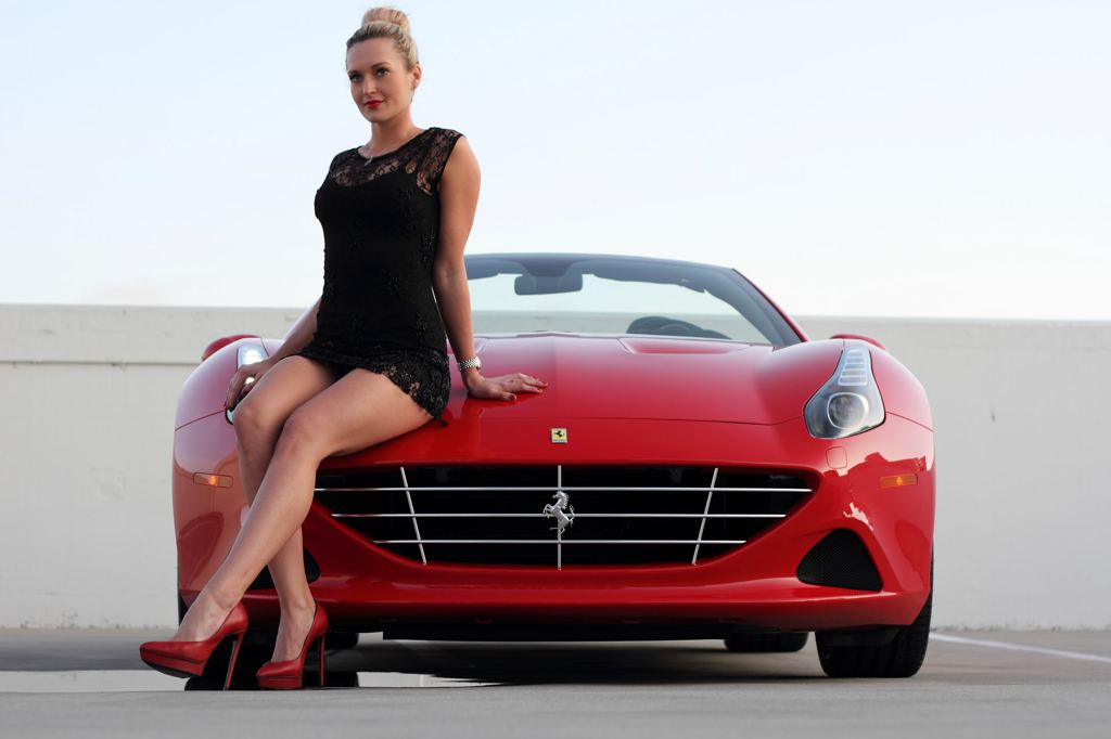 Ferrari California T >> Ferrari California T and Sexy Blonde Create Modern Pinup Art - autoevolution
