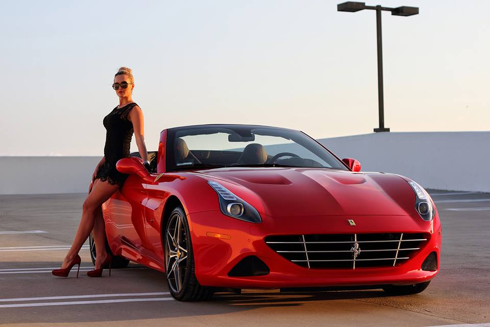 Ferrari California T And Sexy Blonde Create Modern Pinup