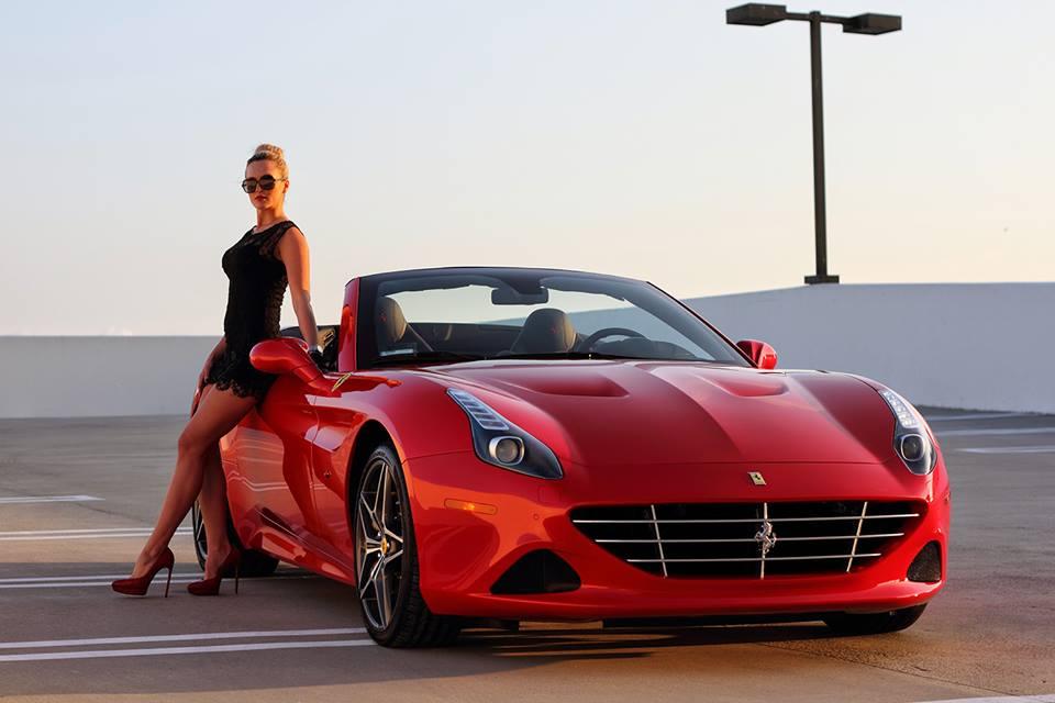 Ferrari California T And Sexy Blonde Create Modern Pinup