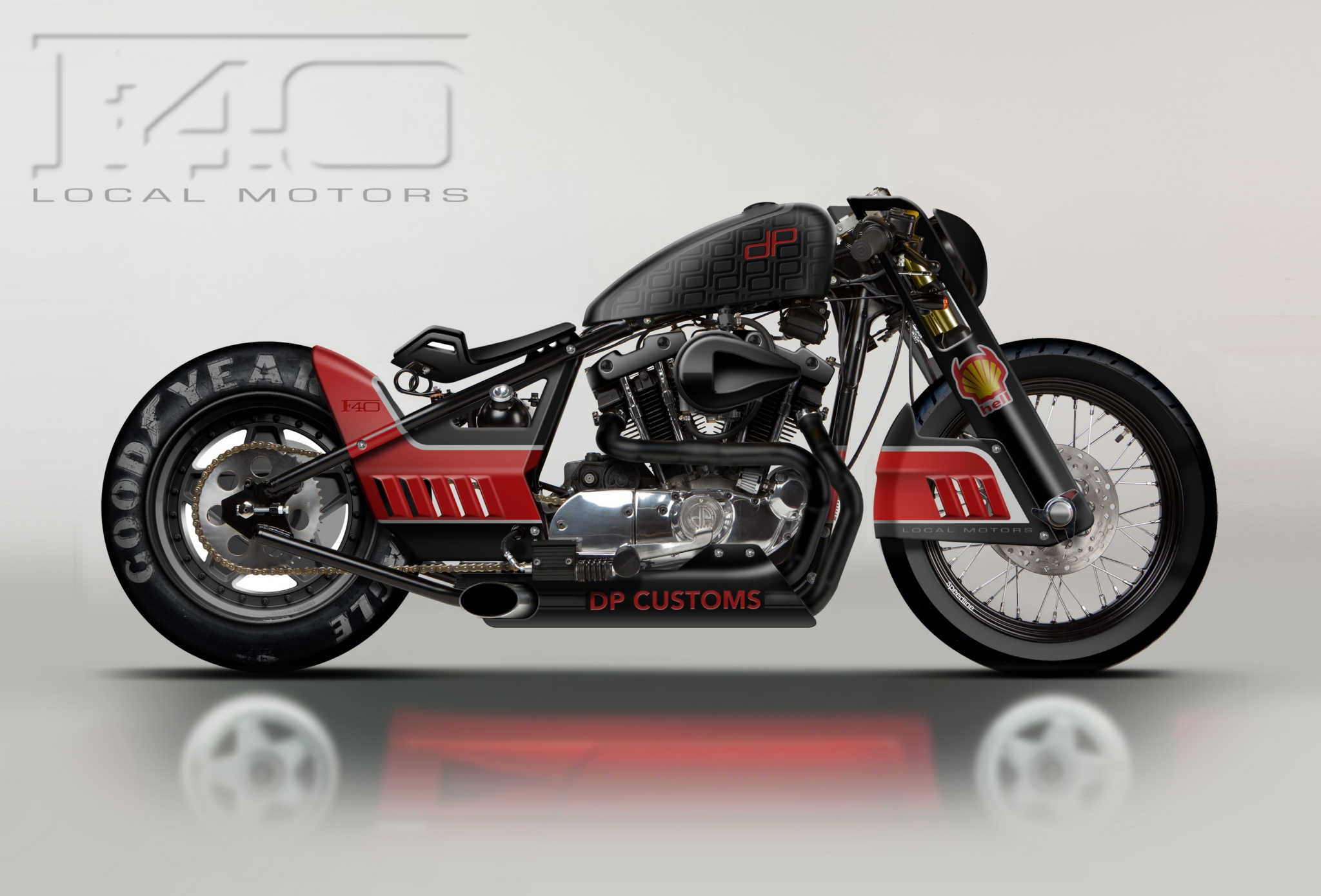 Ferrari F40-Inspired Harley-Davidson Concept - autoevolution