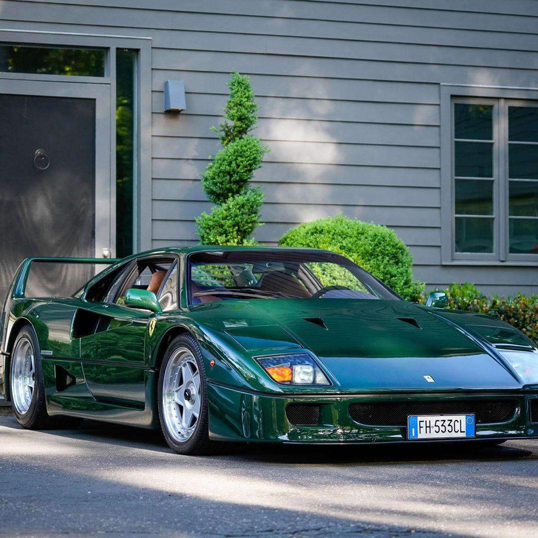 Ferrari F40 With Verde Abetone Paint Is Not A British Race Car Autoevolution