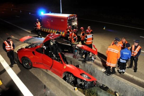 Ferrari F430 Scuderia Crashed Near Spa Francorchamps
