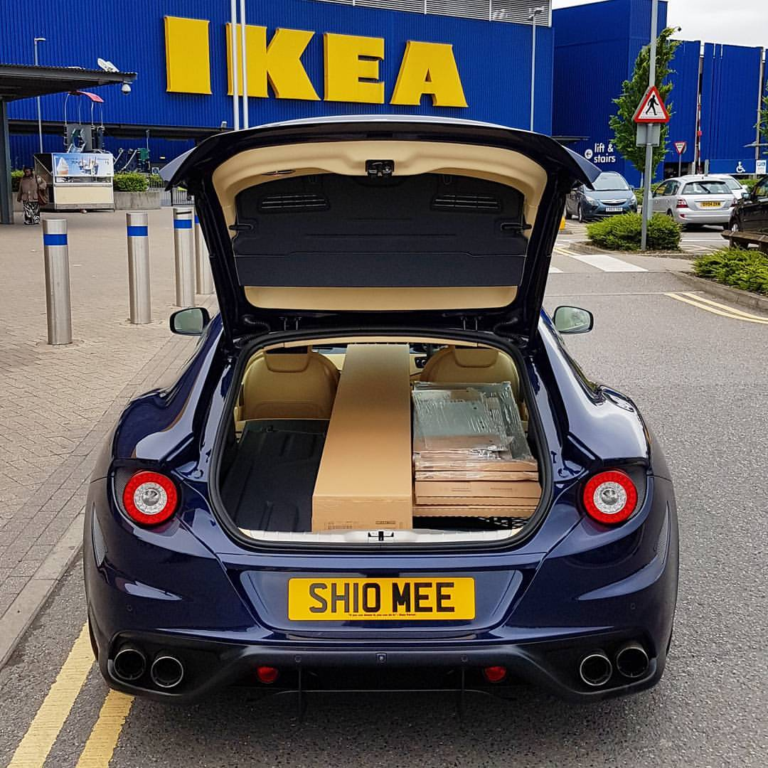 Ferrari Gtc4lusso Engine Sound: Ferrari FF Visits Ikea, Gets Put To Work