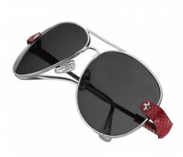 Ferrari GTO Silver-Red Leather Sunglasses Are the Perfect ...