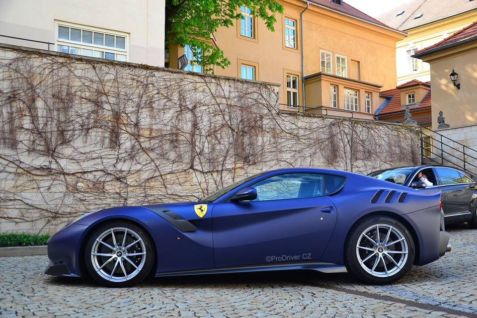 Ferrari Tailor Made F12 TDF Dressed in Blu Opaco Has Strong