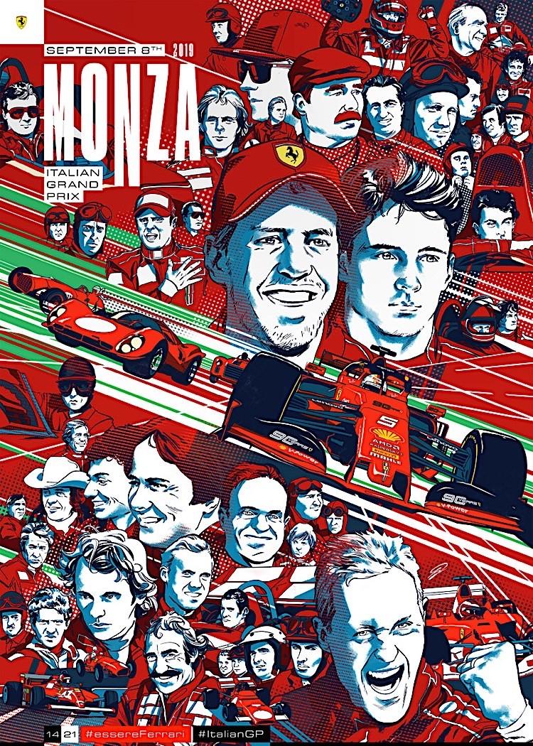 Ferrari Russian Grand Prix Sochi 2019 Poster Art Print