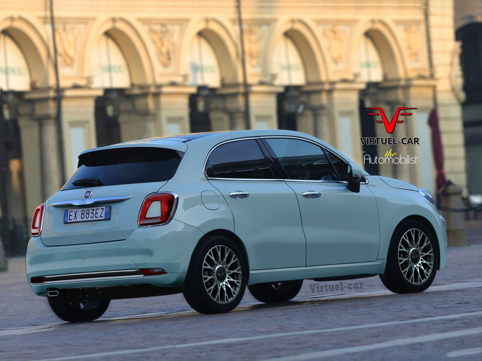 Fiat 500 Cinqueporte Rendering Previews Future 5 Door Hatchback