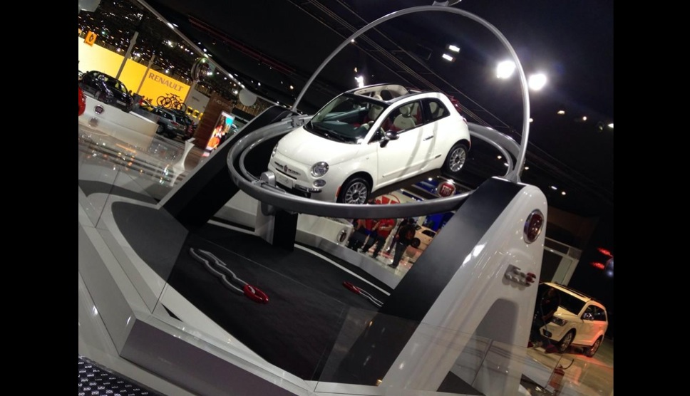 Fiat 500 Crashes Through Glass Display At Sao Paulo Auto