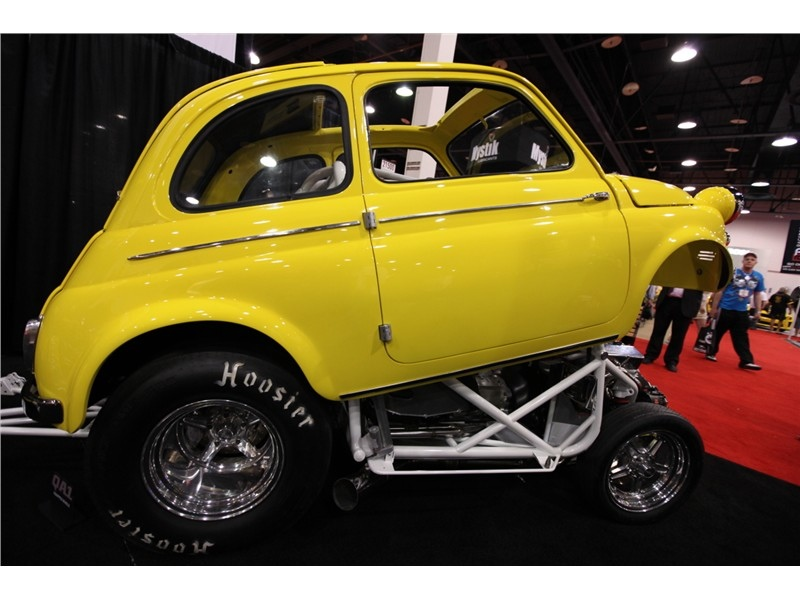 Fiat 500 V8 Powered Dragster Autoevolution