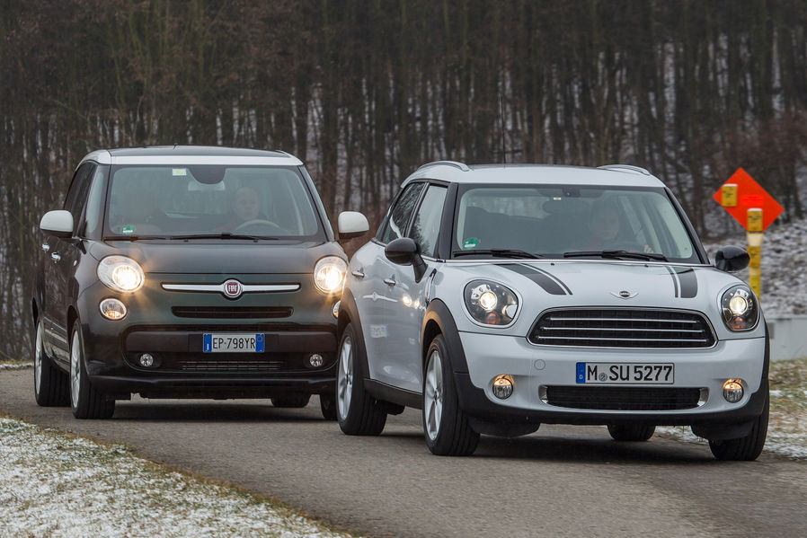 Fiat 500l Vs Mini Cooper Countryman Comparison Test