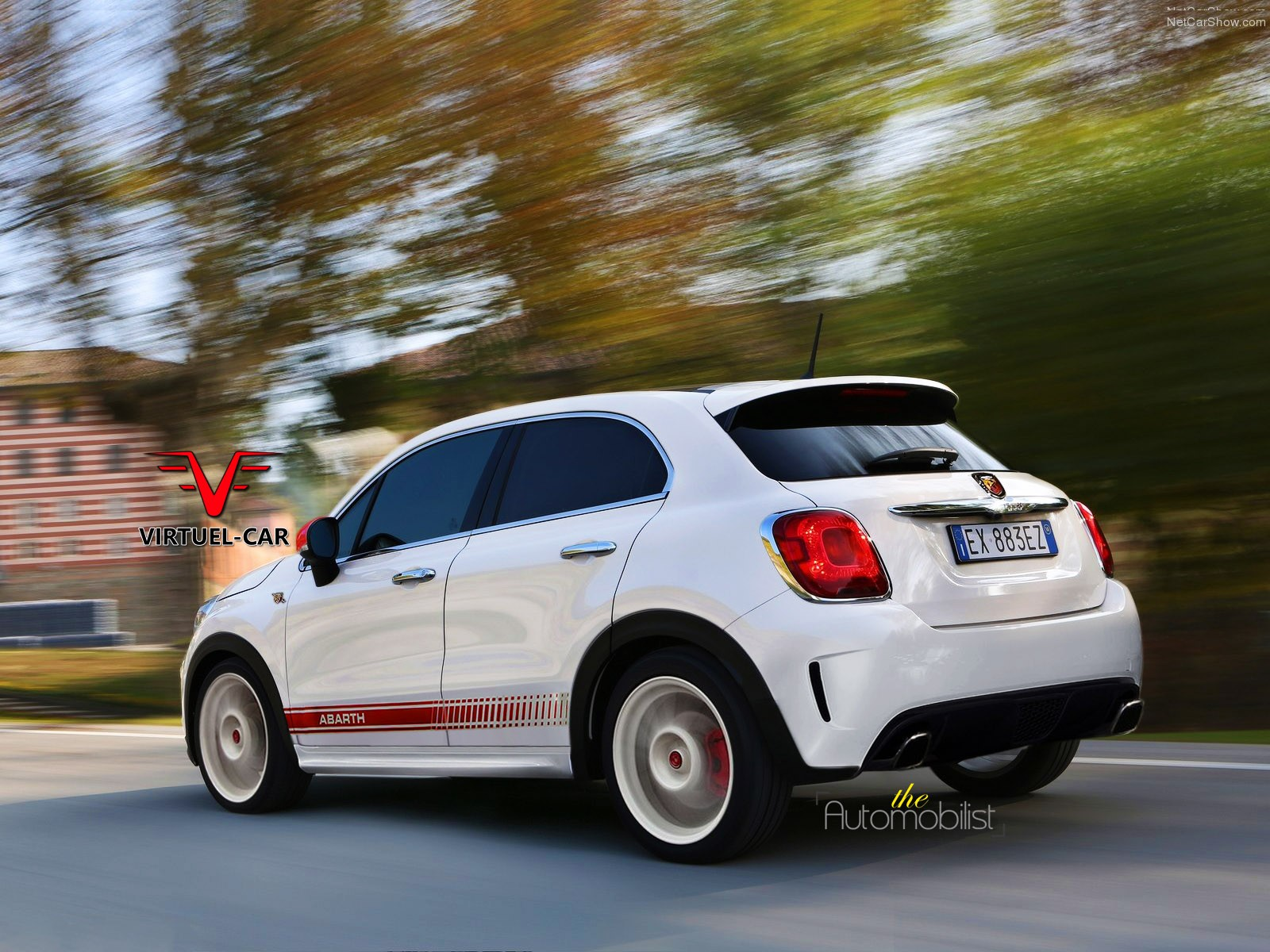 fiat 500x abarth rendering shows upcoming hot crossover autoevolution. Black Bedroom Furniture Sets. Home Design Ideas