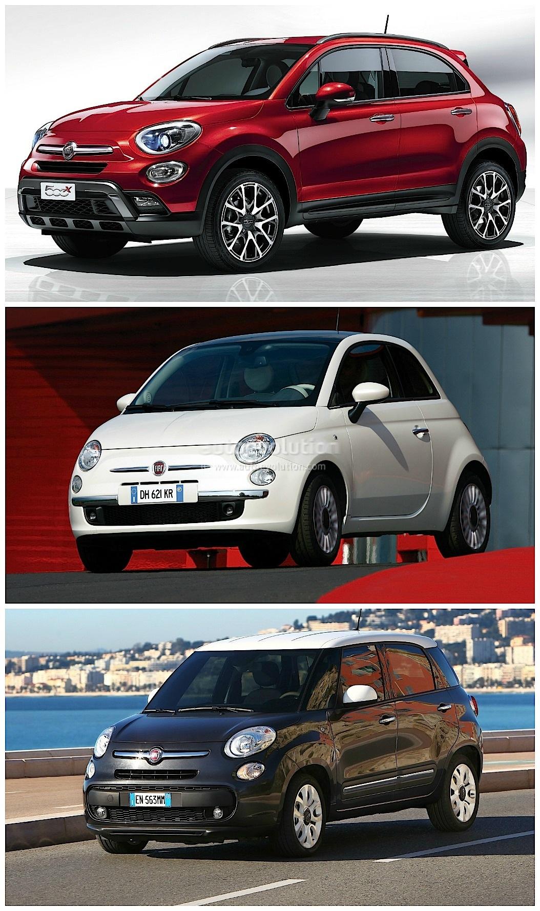 Fiat 500x Vs 500l Vs 500 Italian Family Comparison