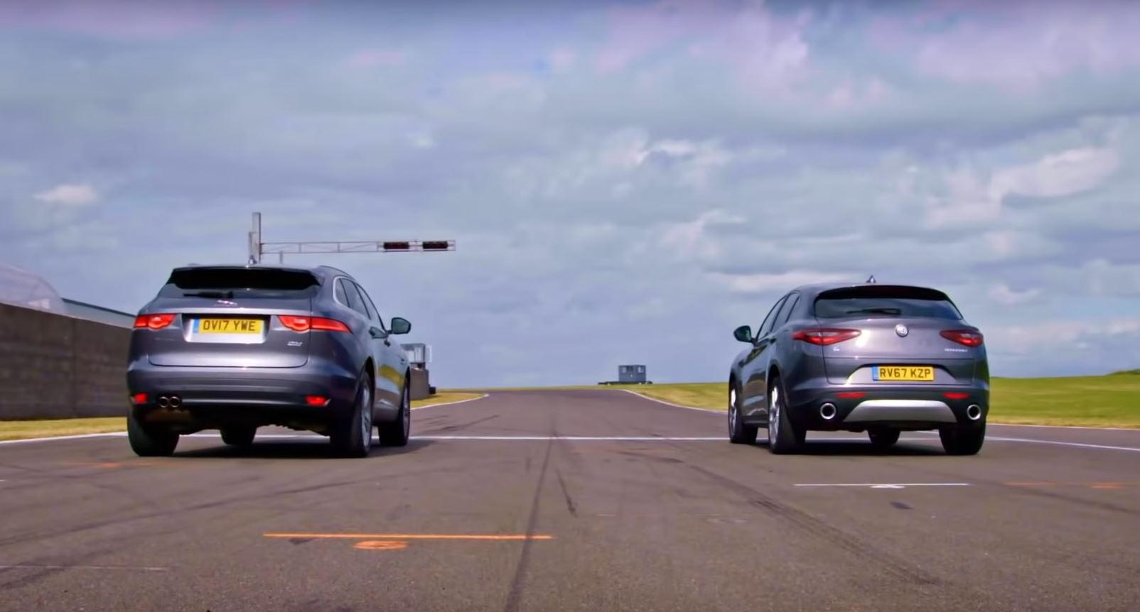 fifth gear compares jaguar f-pace and alfa romeo stelvio on the
