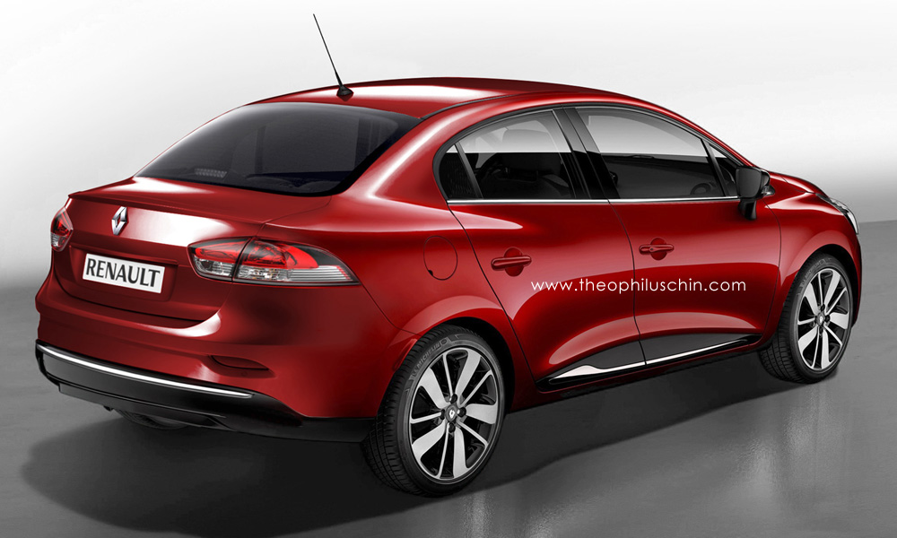 first 2014 renault clio sedan renderings autoevolution. Black Bedroom Furniture Sets. Home Design Ideas