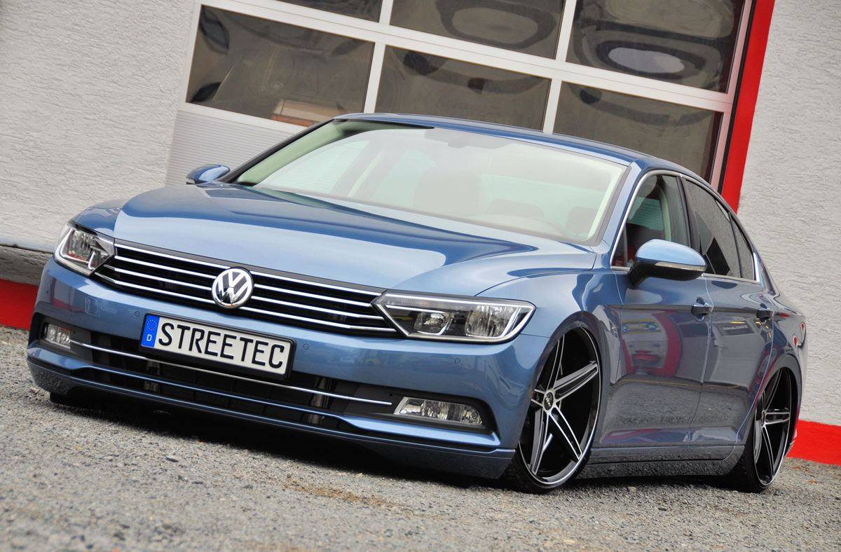first 2015 vw passat b8 slammed on air suspension autoevolution. Black Bedroom Furniture Sets. Home Design Ideas