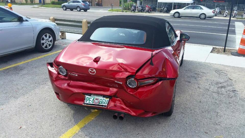 First 2016 miata crash owner gets rear ended by f 150