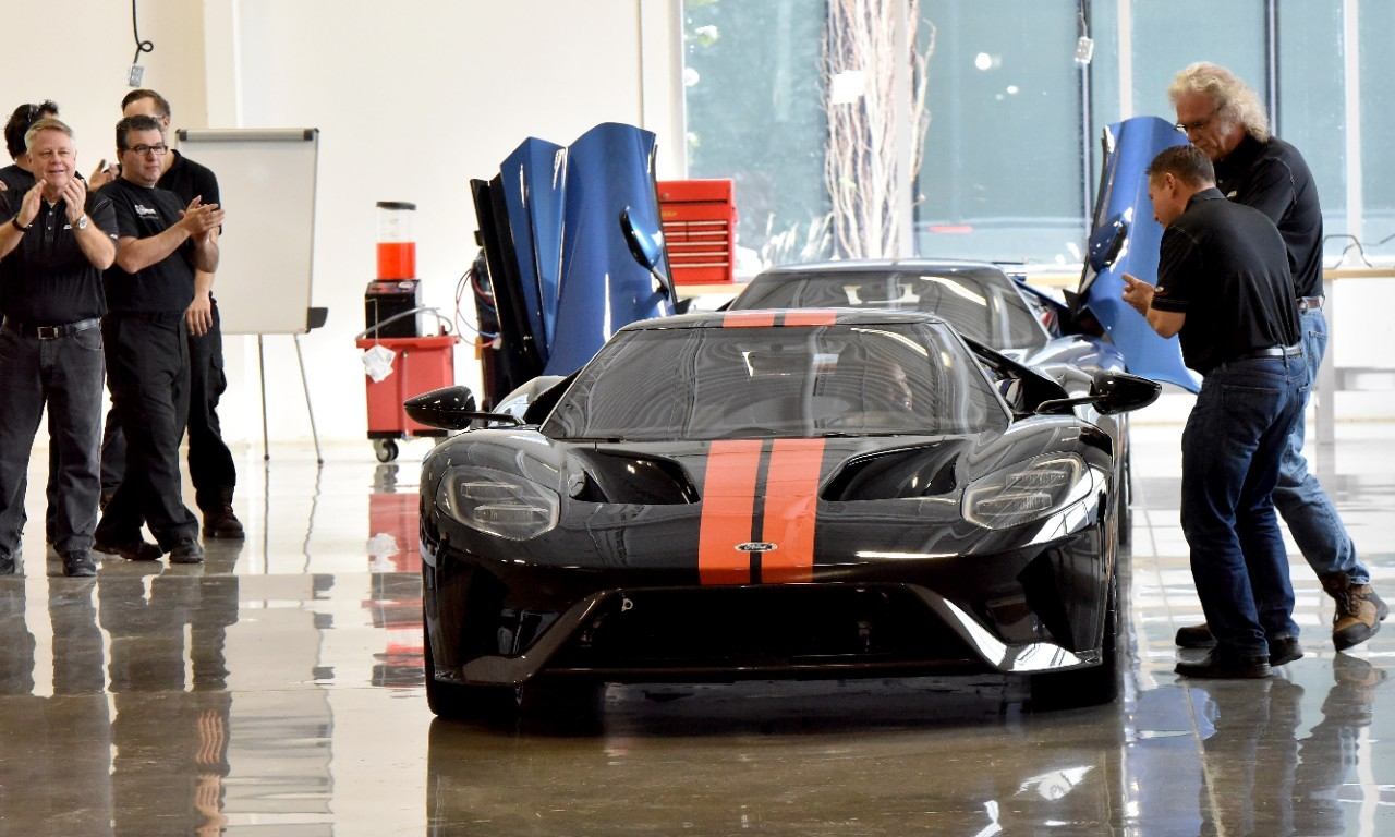 First  Ford Gts Roll Off The Production Line