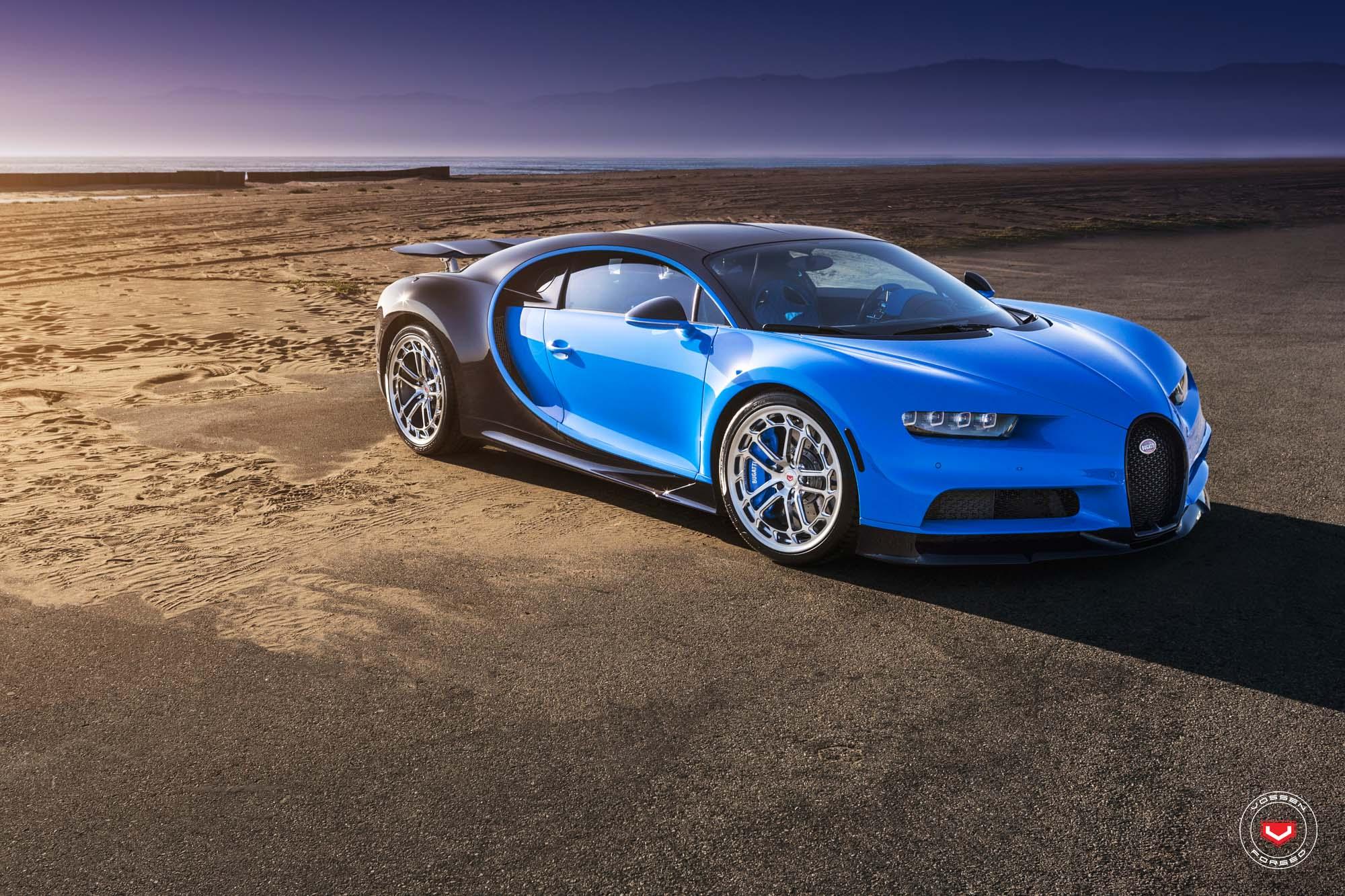 First Bugatti Chiron Gets Vossen Forged Wheels Autoevolution