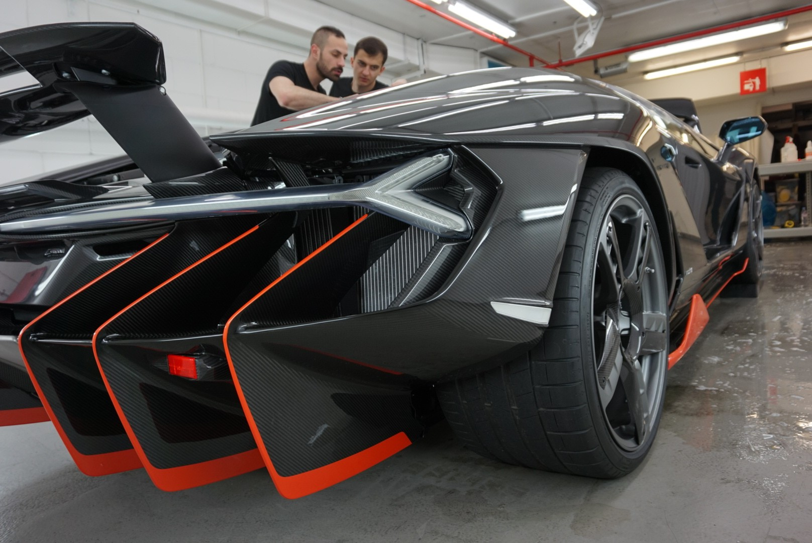 First Lamborghini Centenario Attracts A Huge Crowd In London