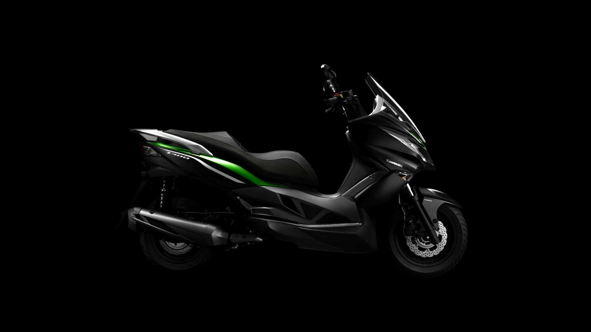 First Pictures Of The Kawasaki J300 Maxi Scooter