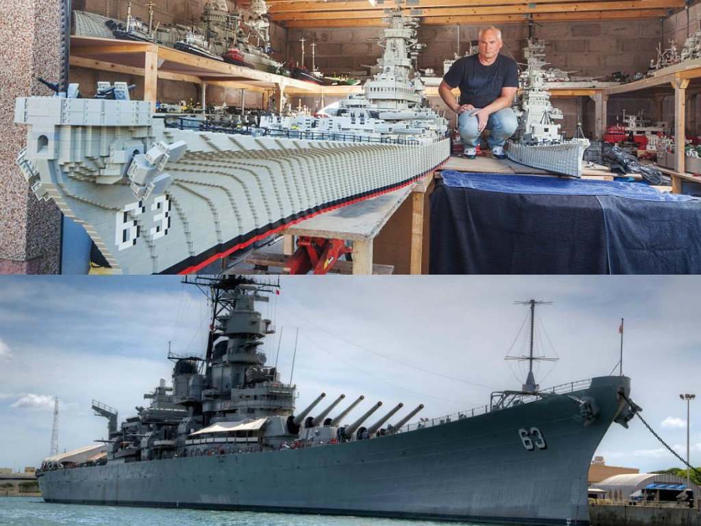 Fisherman Spends Years To Create Impressive Foot Long LEGO - Biggest lego ship