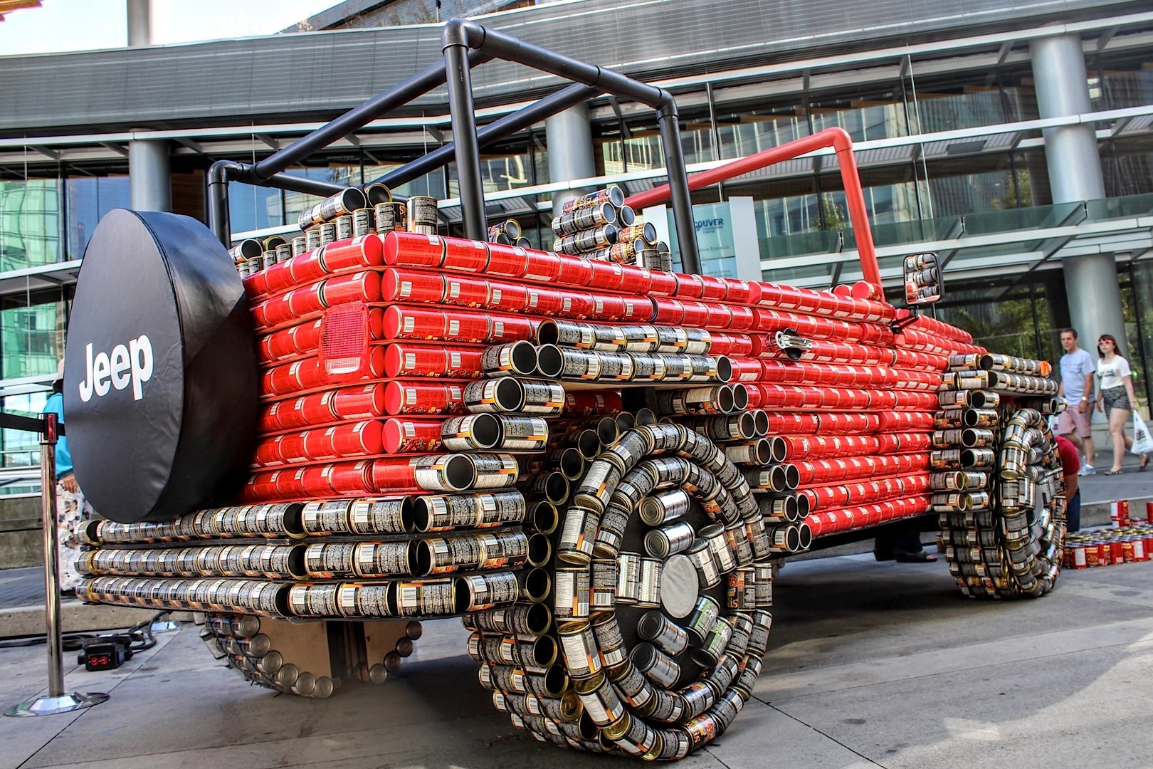 jeep wrangler cans food tin canstruction ride looks man equal applaud idea renegade tomato unique creative build jk forum canada