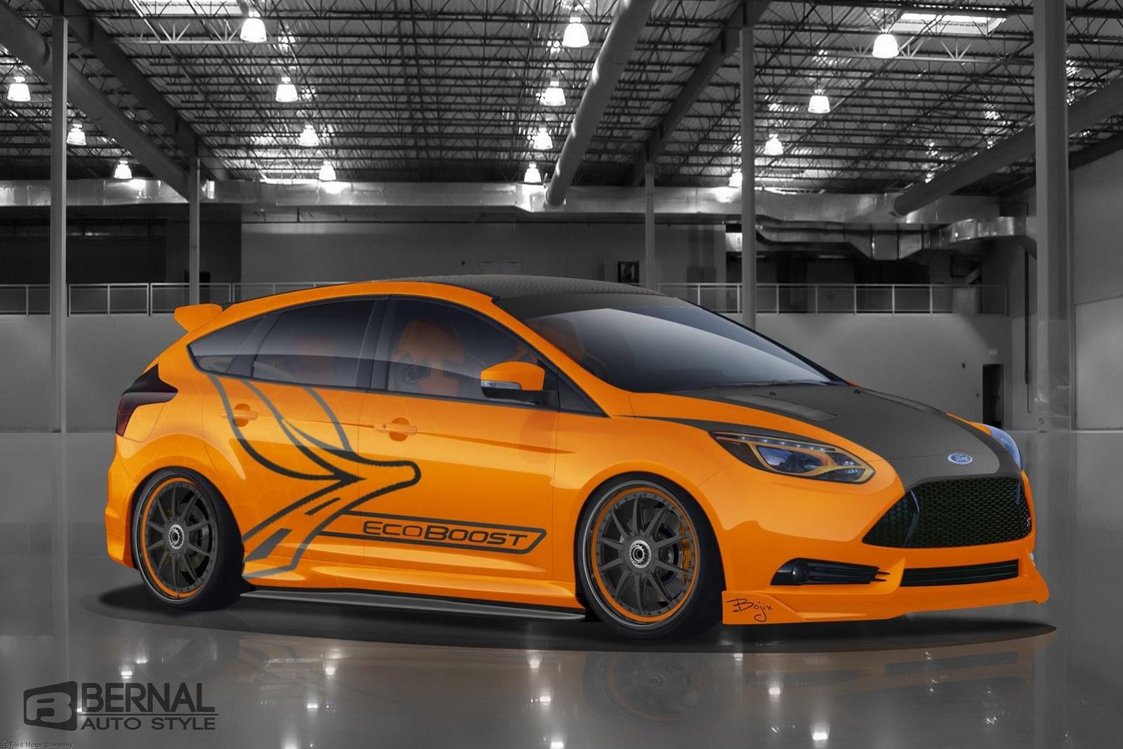 ford announces 5 custom focus st tuned cars for sema. Black Bedroom Furniture Sets. Home Design Ideas
