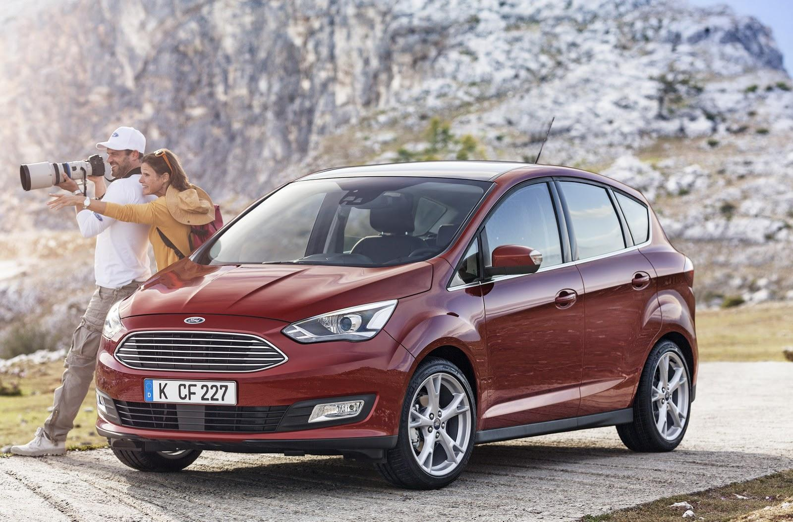 ford c max facelift unveiled will premiere at the paris. Black Bedroom Furniture Sets. Home Design Ideas