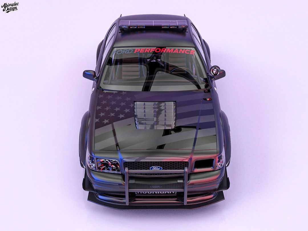 ford crown victoria hoonicop looks ready for officer ken block autoevolution ford crown victoria hoonicop looks