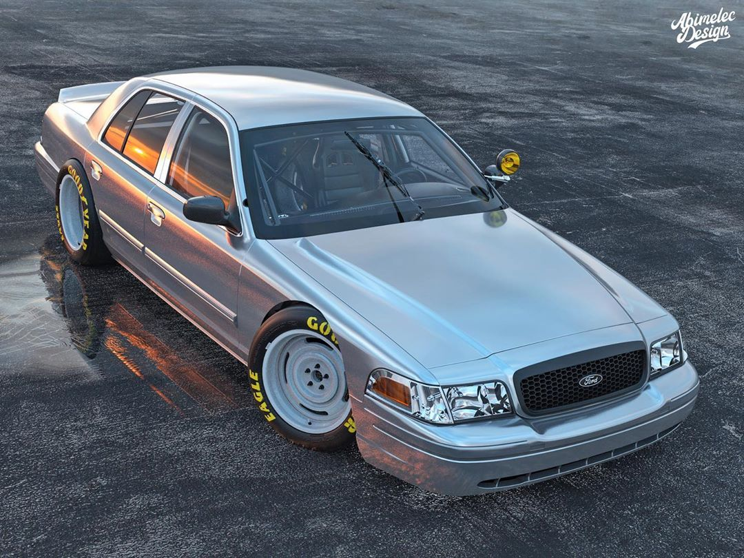 ford crown victoria nascar noobie flexes procharged coyote muscle autoevolution ford crown victoria nascar noobie