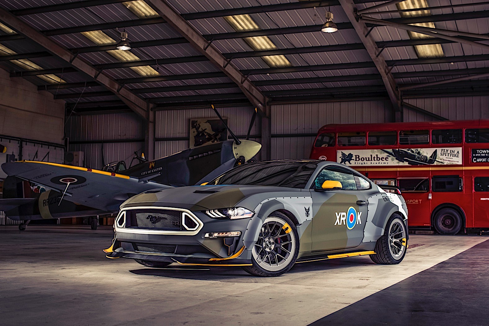 Ford Eagle Squadron Mustang GT Stuns the Skies Over Beachy ...