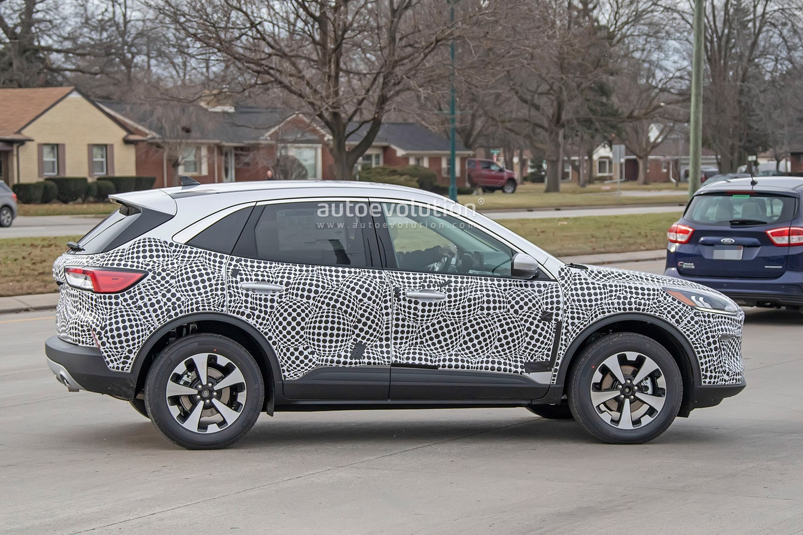 Ford Escape Kuga Spied With Production Body Looks Like Jaguar Focus