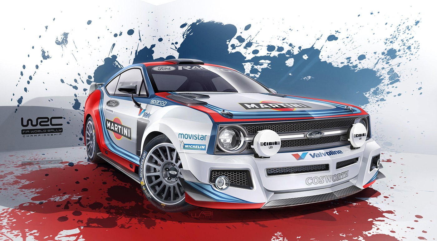 Ford Escort Mk2 Reimagined As Modern WRC Car Complete With Martini Livery - autoevolution