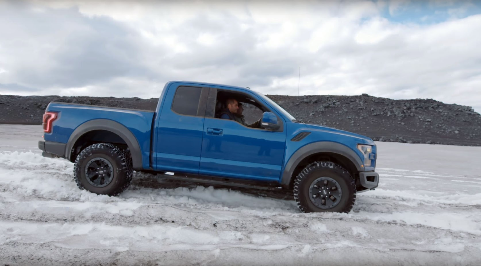 Ford F 150 Svt Raptor Gets Stuck In Snow And Is Towed By A Toyota